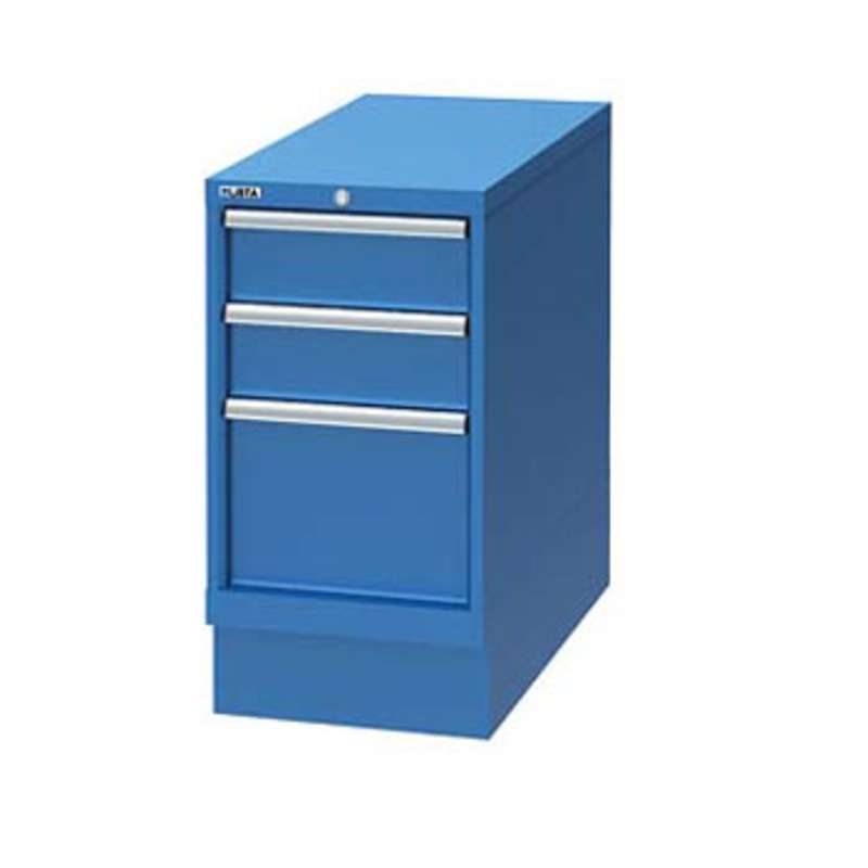 Cabinet Pedestal with Three Drawers, Bright Blue