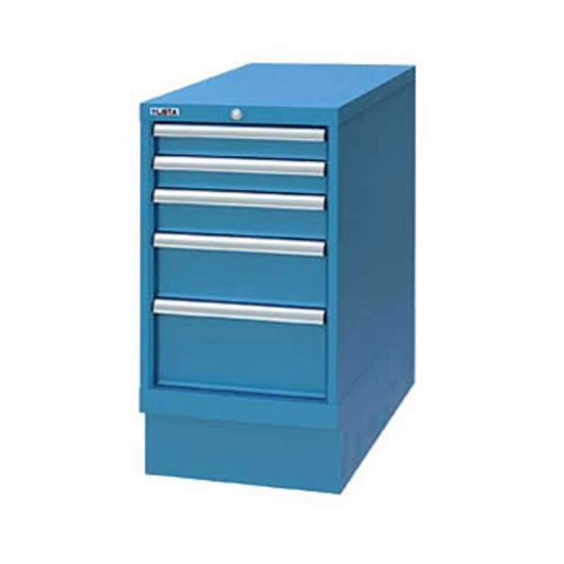 Cabinet Pedestal with Five Drawers, Classic Blue
