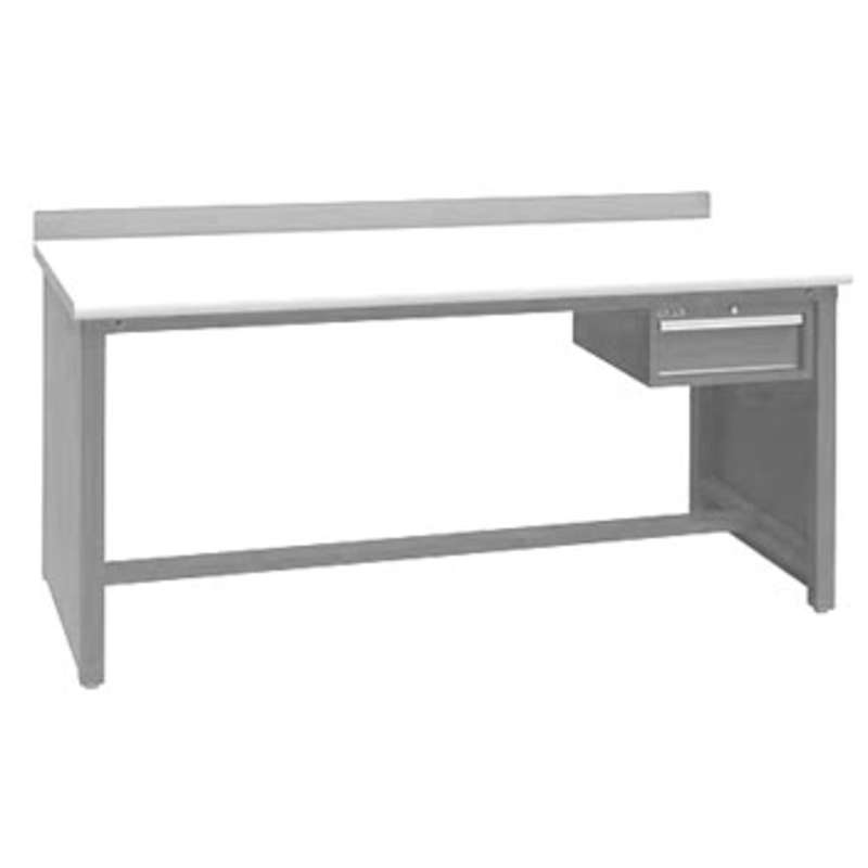 """Non-ESD Workbench with Stringer and One 5-3/4"""" Drawer, Light Grey, 30 x 72"""""""