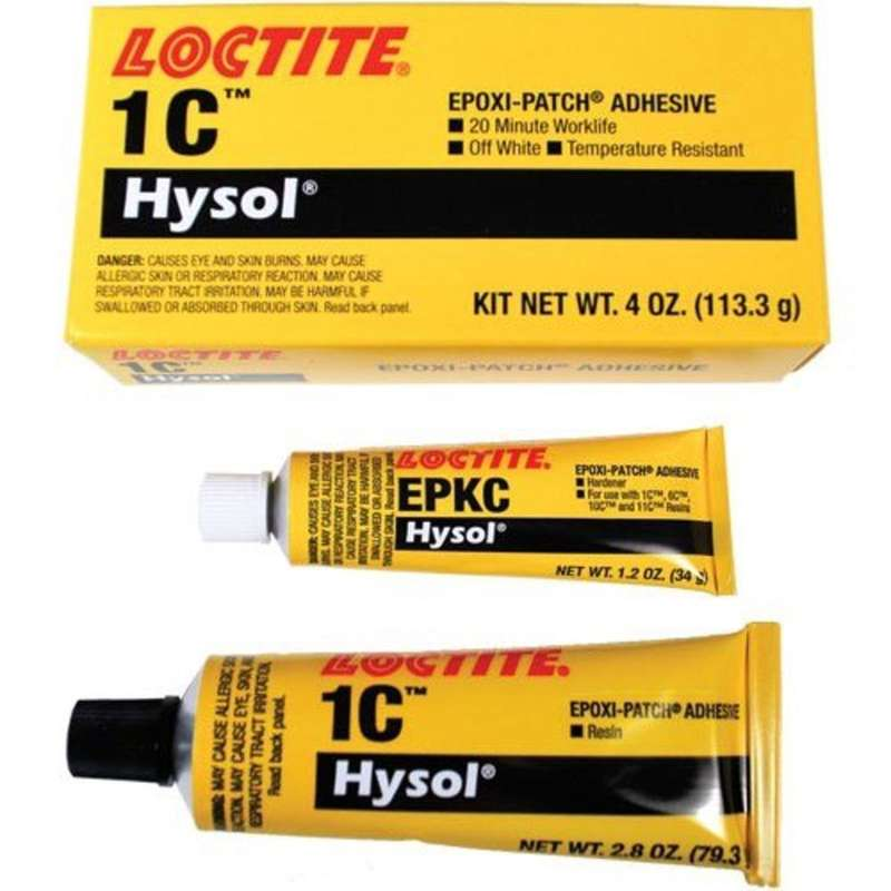 1C, High Temperature High Viscosity Epoxy Structural Adhesive, White, 4oz Kit