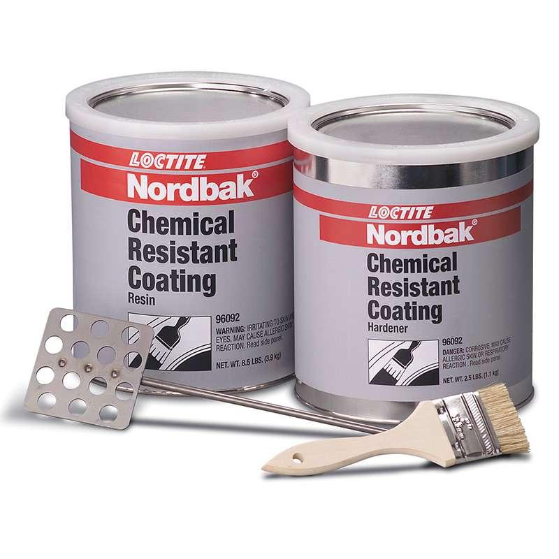 Nordbak® Chemical Resistant Grey Floor Coating, 12 lb. Kit