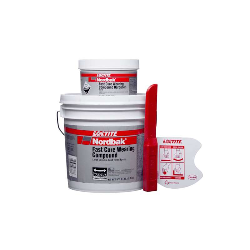Fast Cure Epoxy : Nordbak fast cure wearing compound blue lb kit