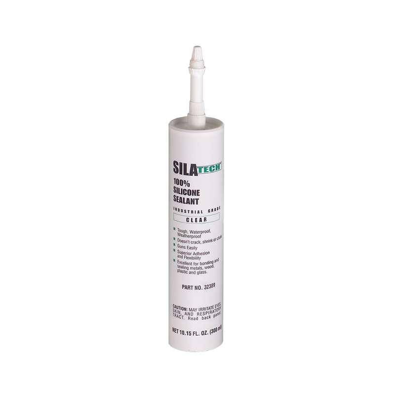 Silatech™ Clear RTV Silicone Adhesive Sealant, 300 mL Cartridge