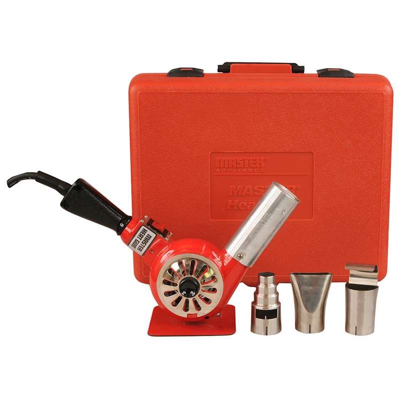 Heat Gun Kit, 500-750°F, 14 Amp 120V, Includes 3 Attachments and Storage Case