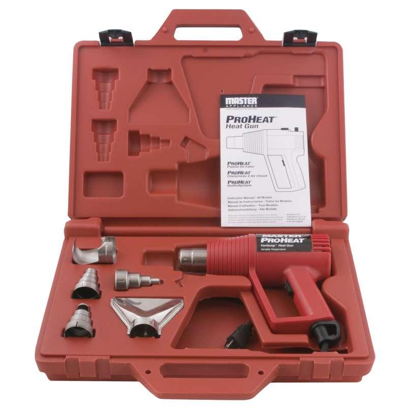 Proheat® Varitemp Heat Gun Kit with Accessories and Case, 120V