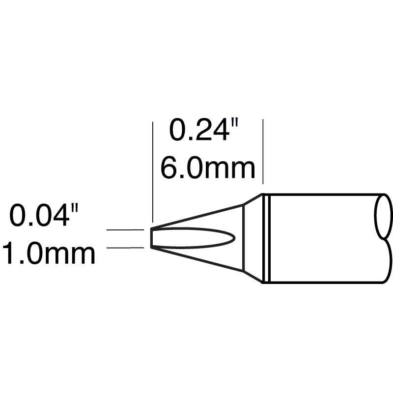 Metcal CVC Standard Chisel Cartridge