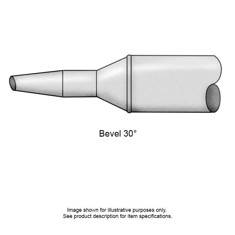 STV Series Beveled Conical Solder Tip, Temperature Sensitive for MFR-HPS, PS-800E and PS-900 Irons, 1.80mm