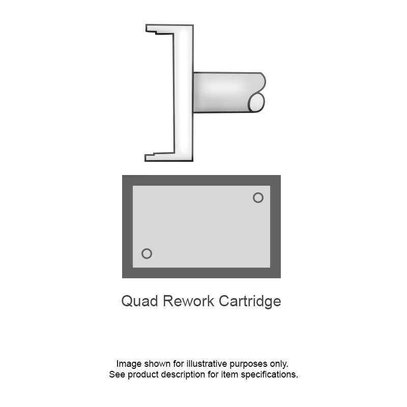 SMTC 700 Series Quad Tip Solder Cartridge for MX Series Systems, QFP 100 (Rectangular), 16.51mm