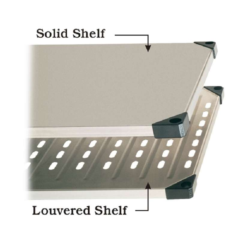 Super Erecta Stainless Steel Louvered Shelf, 14 x 36""