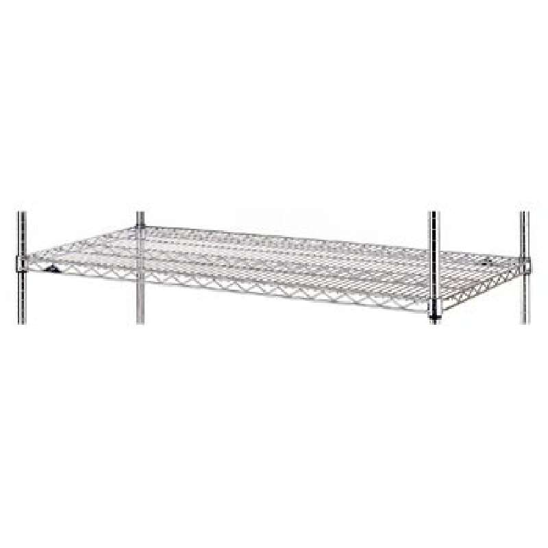 "Super Erecta Wire Shelf, Polished Stainless Steel, 18"" x 36"""