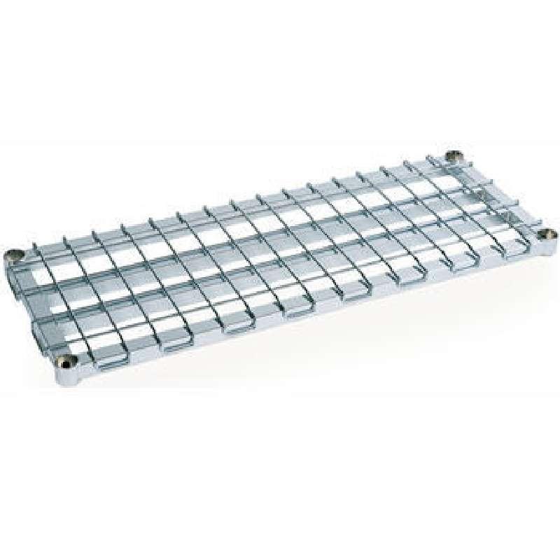 "Super Erecta Heavy-Duty Dunnage Wire Shelf, Chrome, 24 x 36"""