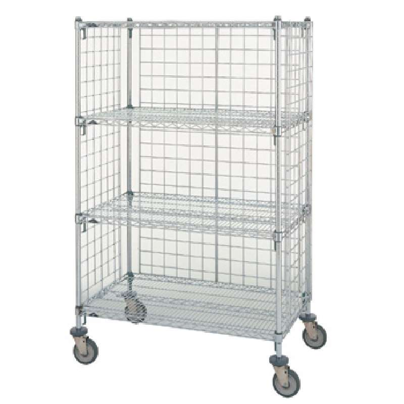 "Chrome Enclosure Panel for Use with Super Erecta® 74"" Posts, 12-3/8 x 70-1/2"""
