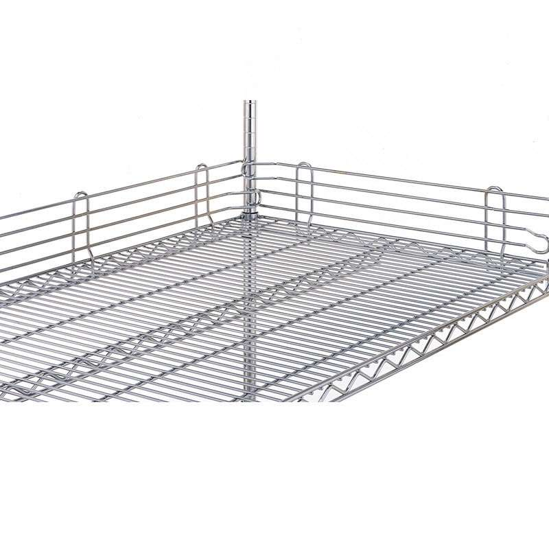 "Super Erecta® Wire Shelf Ledge, 4""H x 30""L, Stainless Steel"