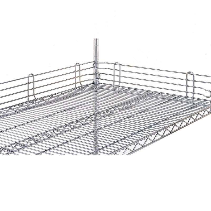 "Super Erecta® Shelf Ledge for Wire Shelves, 4""H x 14""L, Stainless Steel"