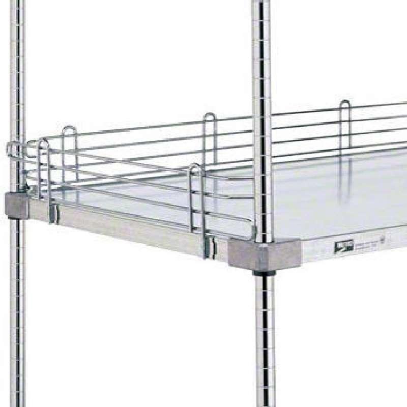 "Super Erecta® Shelf Ledge for Solid Shelves, 4 x 18"", Chrome"