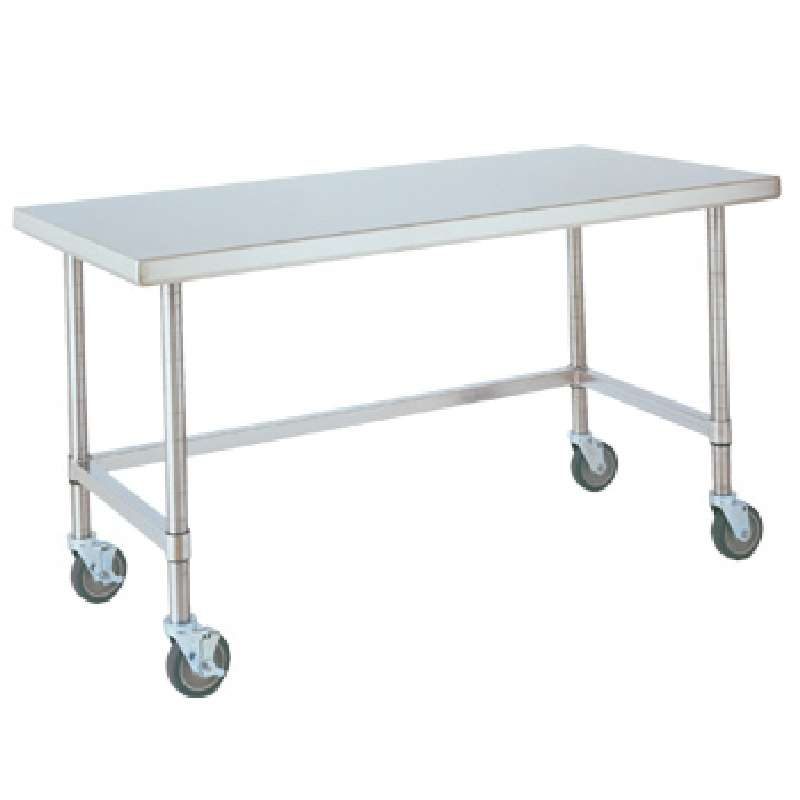 "Metro HD Super Stainless Steel Mobile Worktable with Stainless Bottom Shelf, 30"" x 60"" x 34"""