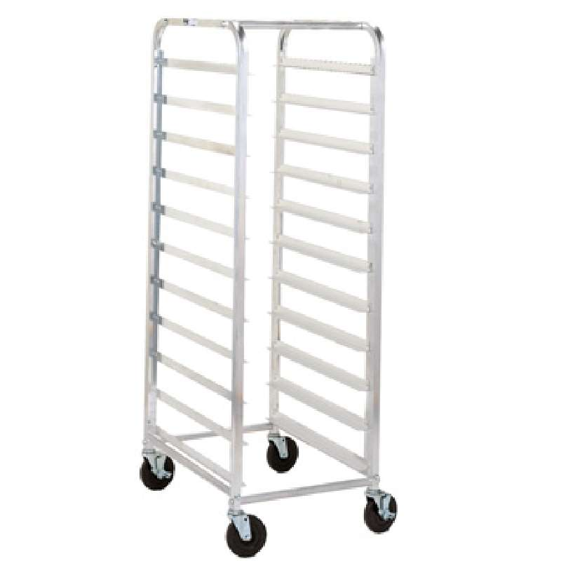 """Rack 64 1/8 x 20 3/8 x 28"""" End Load """"Knock Down"""" With Casters, Holds 18 Pans"""