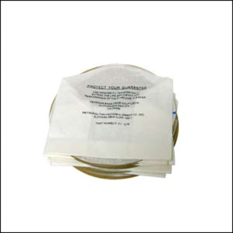 Disposable Paper Vacuum Bags for DataVac® 2 and 3 Vacuums, 5 per Pack