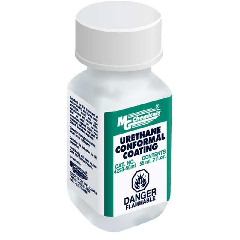 Urethane Conformal Coating With Uv Indicator With Brush Cap, 2oz Bottle
