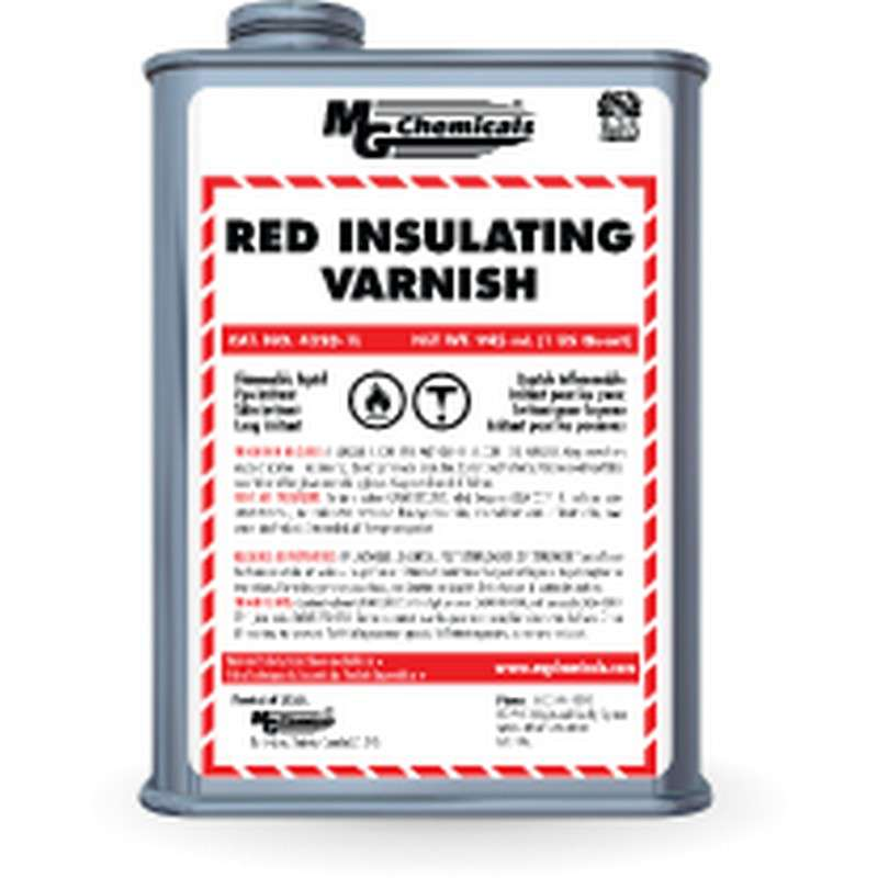 GLPT Insulating Varnish Coating, Red, 1 Liter