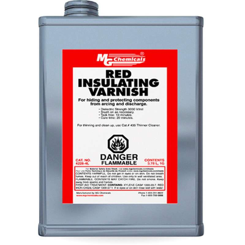 GLPT Insulating Varnish Coating, Red, 1 Gallon