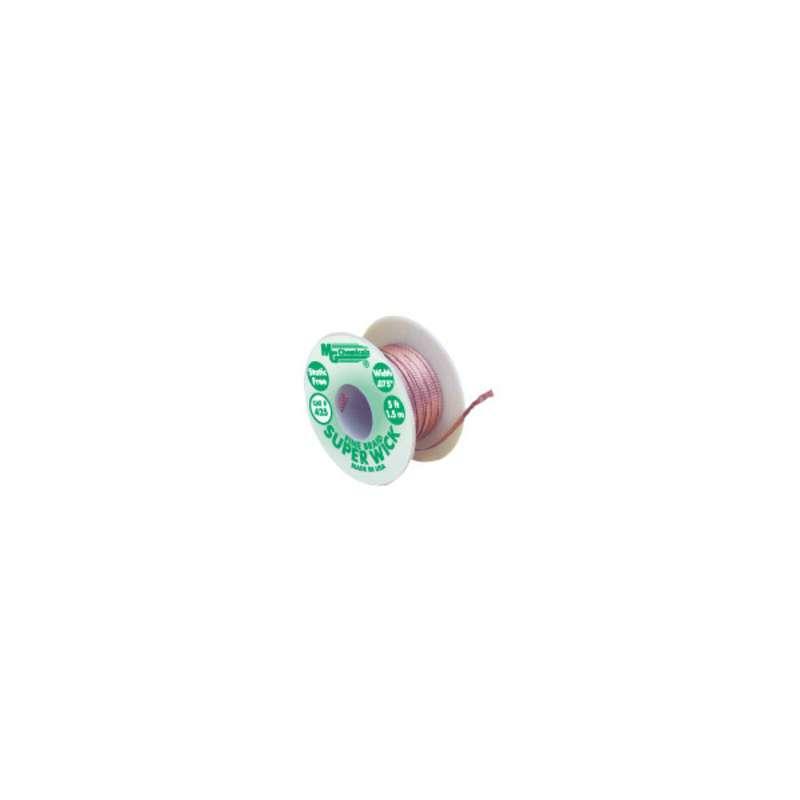 "Super Wick™ Fine Desoldering Braid, #3 Green, .075"" x 5'"