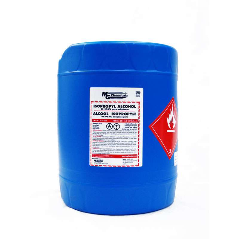 Isopropyl Alcohol, 99.953%, 20 Liter (5 Gallon) Container