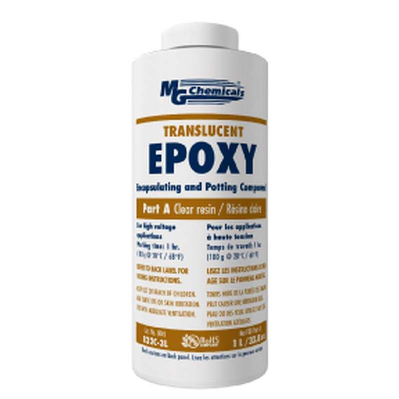 Optically Clear Encapsulating Epoxy And Potting Compound With Hardener, 3 Liter Kit