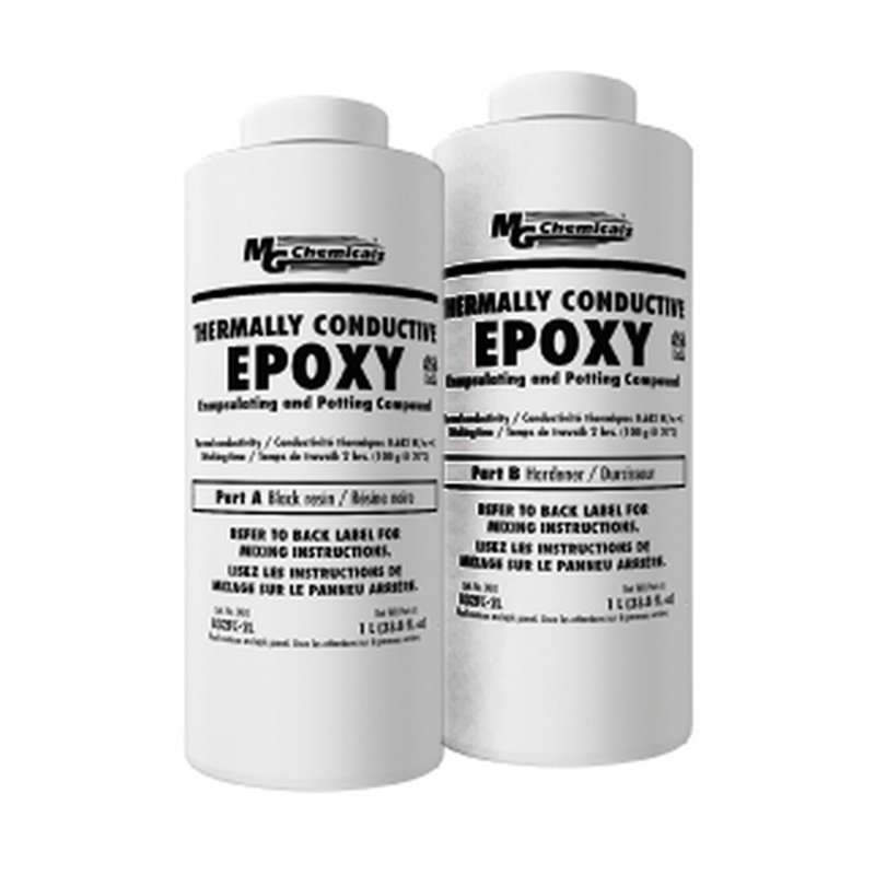 Thermally Conductive Encapsulating Epoxy And Potting Compound With Hardener, 2 Liter Kit