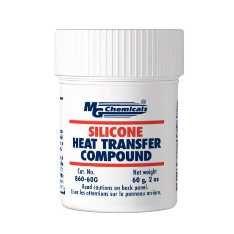 Silicone Heat Transfer Compound, White, 60 Gram Jar