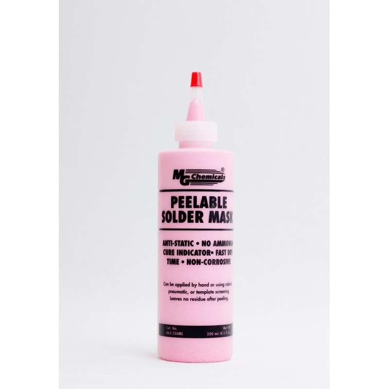 Anti-Static Peelable Latex Solder Mask, Pink, 8.5oz Tube