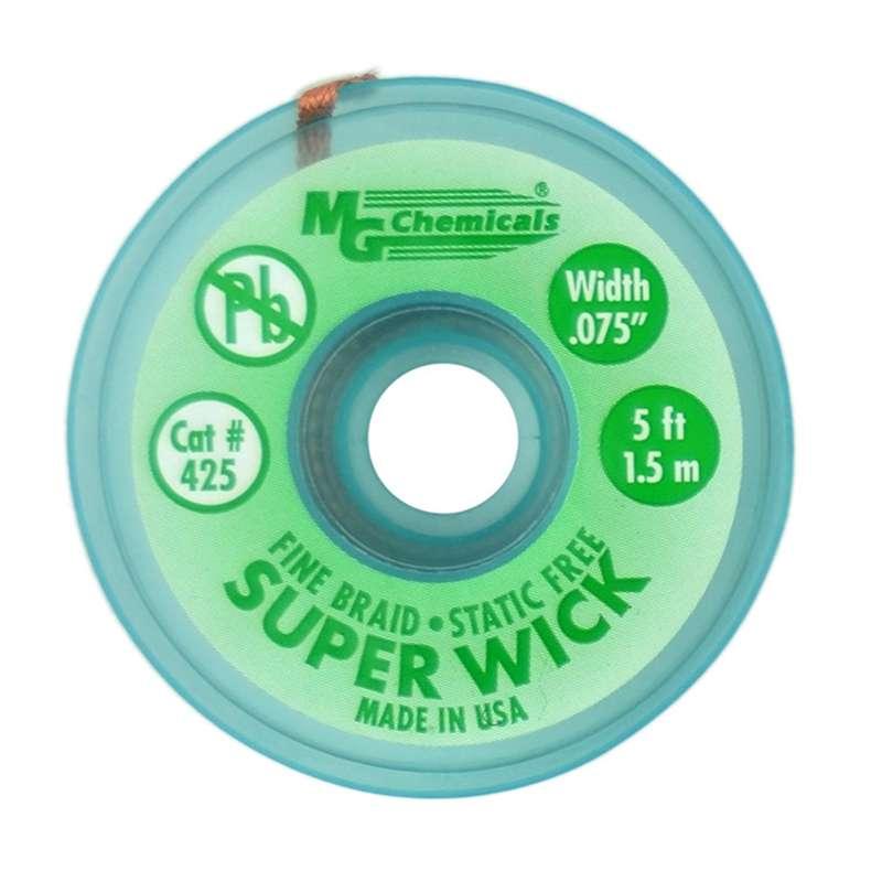 "Super Wick™ Fine Desoldering Braid, #3 Green, .075"" x 25'"