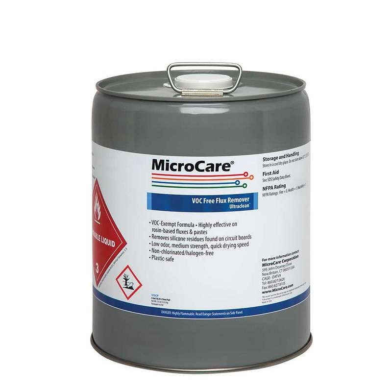 UltraClean® VOC-Free Non-Chlorinated Flux Remover, 5 Gallon Pail