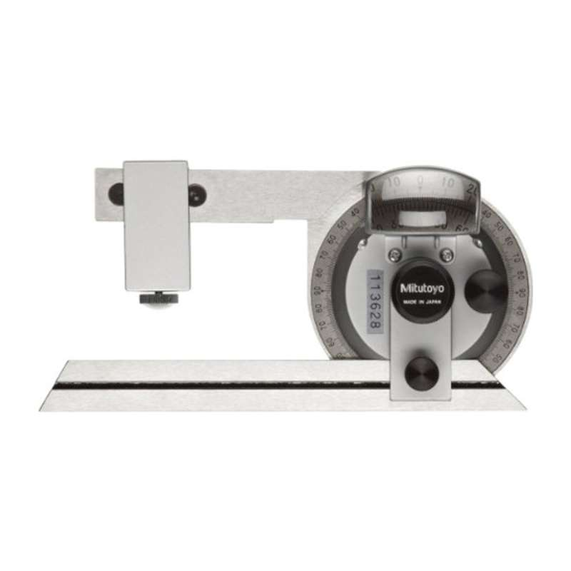 "Series 187 Universal Bevel Protractor with 6"" Blade and Clamp Box for Inch Height Gages"