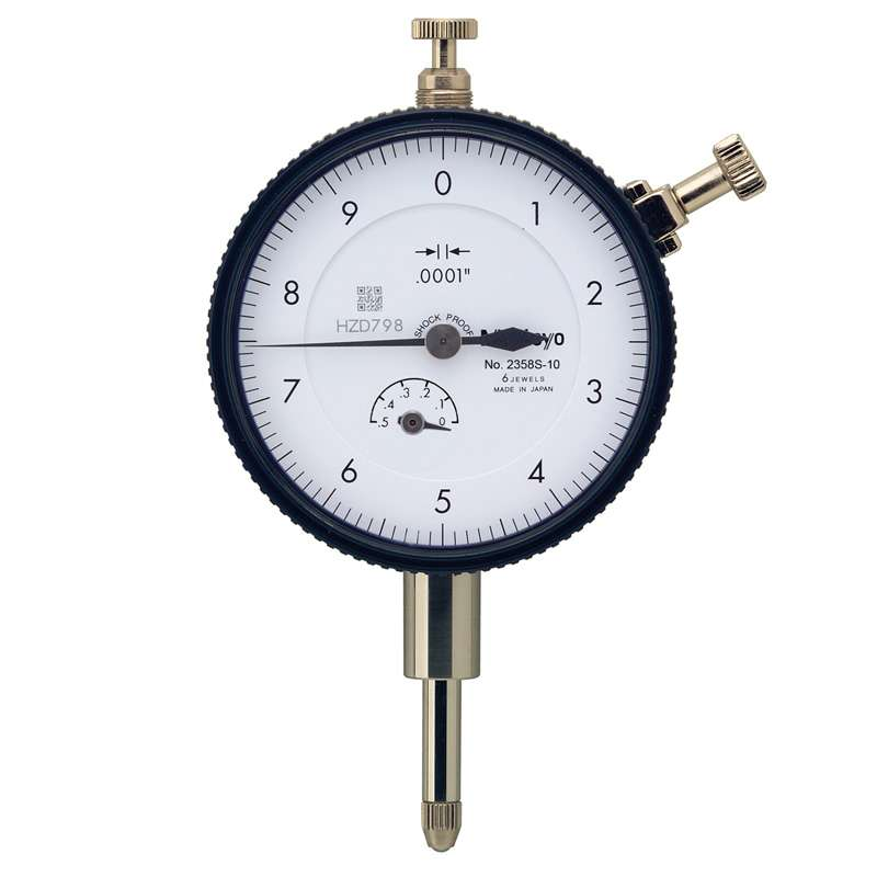 """Series 2 Standard Type Dial Indicator with Lug Back and Jeweled Bearing, .0001-.5"""" Range"""