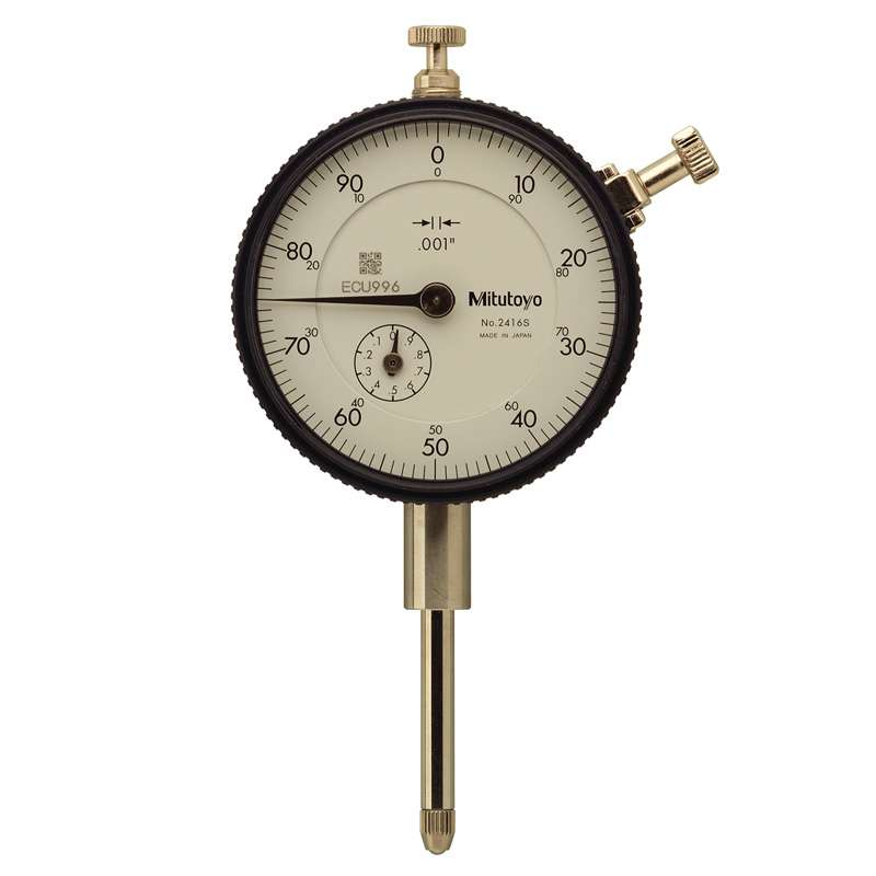 """Series 2 Standard Type Dial Indicator with Lug Back and Jeweled Bearing, .001-1"""" Range"""