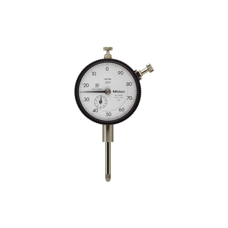 "Series 2 Standard Type Dial Indicator with Lug Back and Jeweled Bearing, .001-2"" Range"