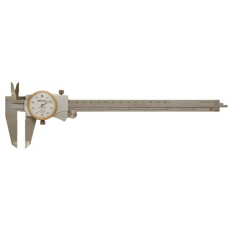 "Series 505 Dial Caliper with Titanium Nitride Coating and Fitted Plastic Case, 0-8"" Range"