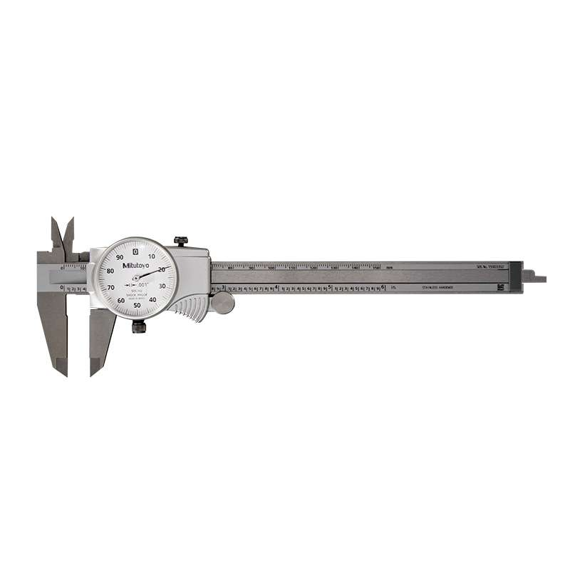 """Series 505 Dial Caliper, .1""""/Revolution with Fitted Plastic Case, 0-6"""" Range"""