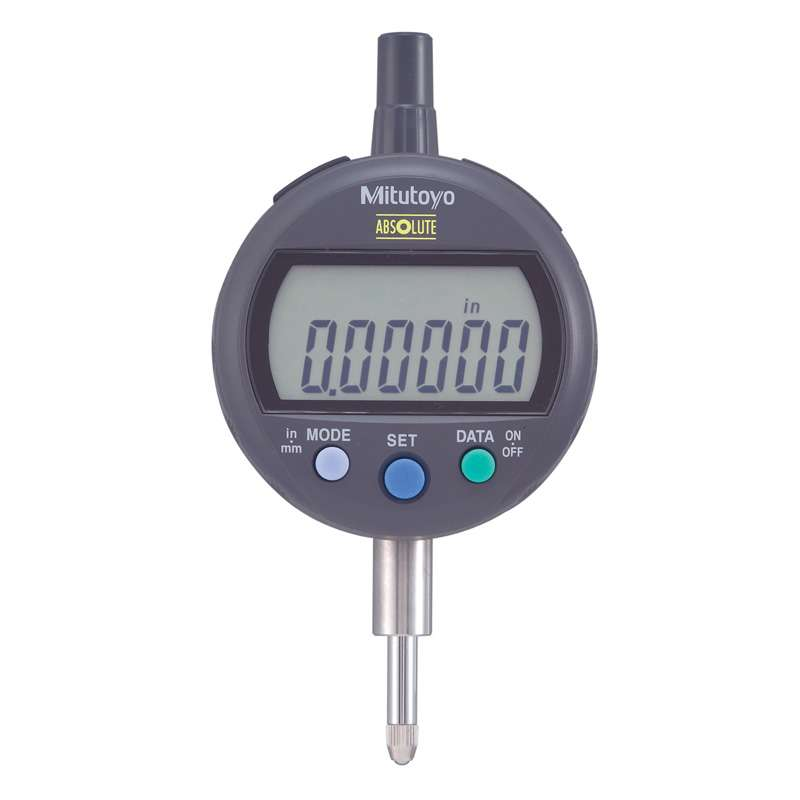 """Series 543 IDC Digimatic Indicator with ABSOLUTE Encode Technology and Flat Back, 0-.5""""/12.7mm Range"""