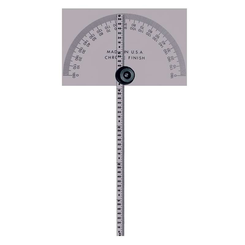 Series 968 Basegular Base Protractor with Indicator Blade and Rule