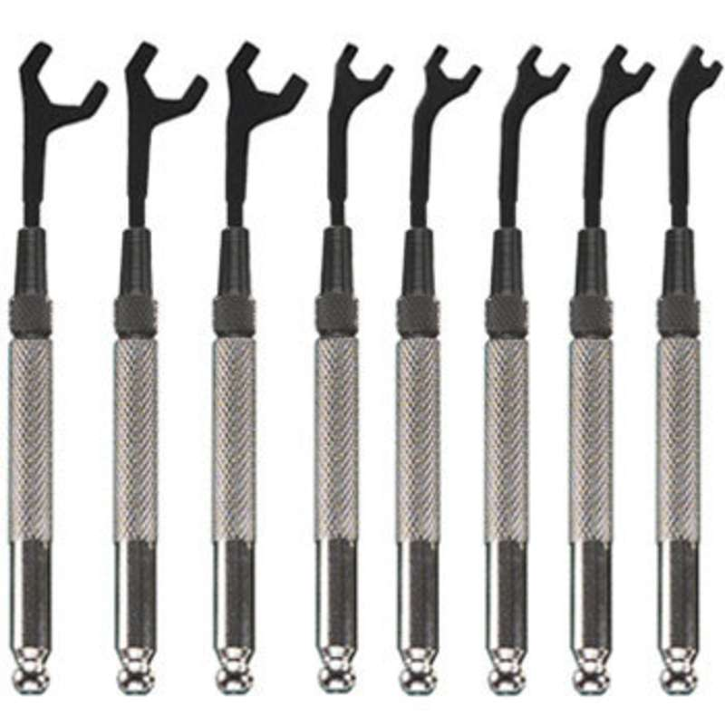 Metric Open End Wrench Set, 8 Pieces