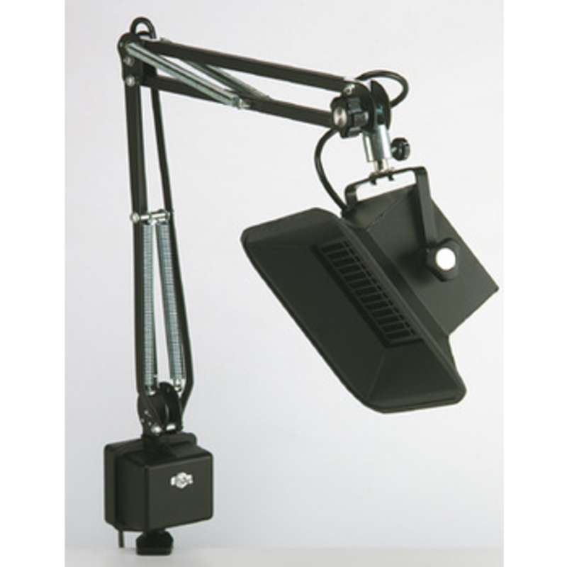 """ESD-Safe Fume Absorber with 37"""" Reach Ultraflex® Arm and Clamp Base, Black"""