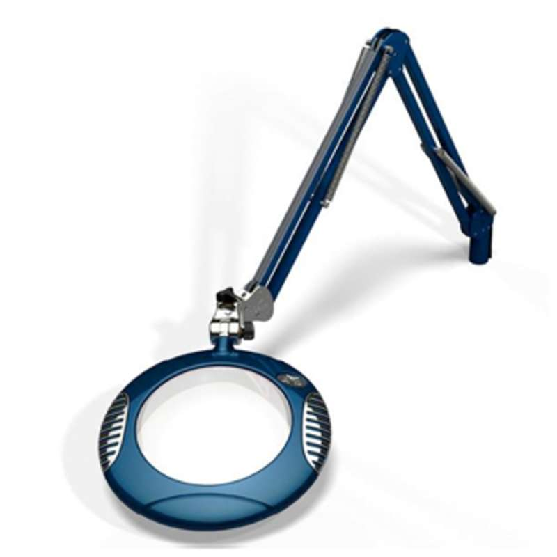 "Green-Lite? ESD-Safe 4-Diopter LED Magnifier with 43"" Reach and Clamp Base, Spectre Blue"