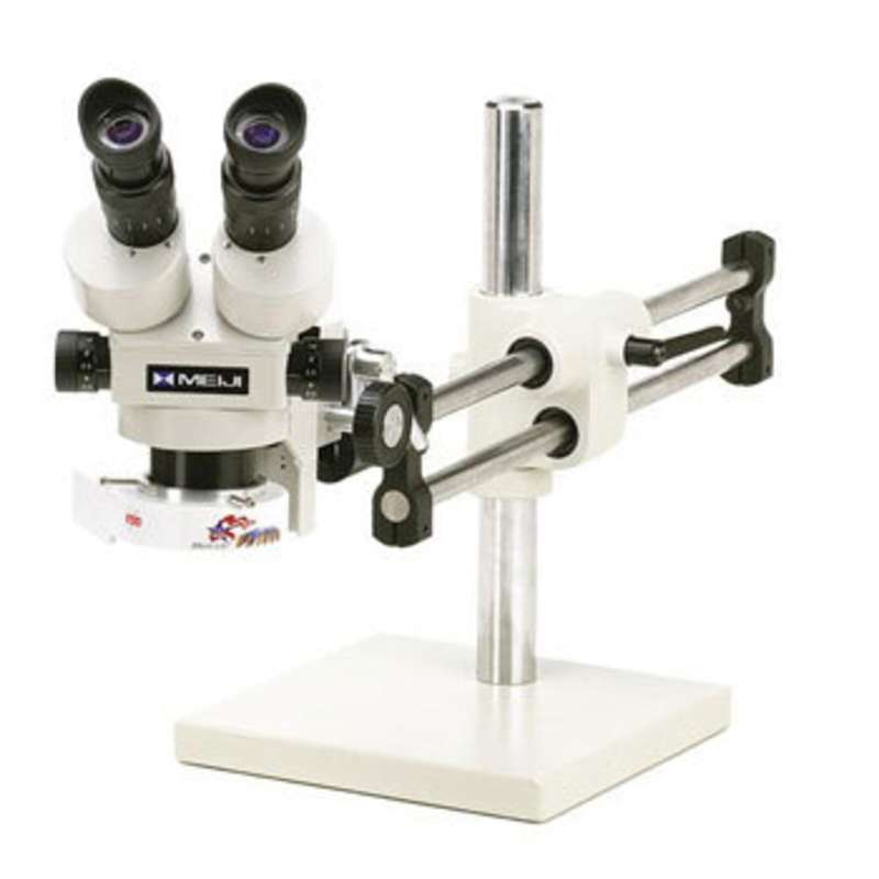 ESD-Safe Stereo-Zoom Binocular Microscope with Dual Arm Base and Dimmable LED Ring Light