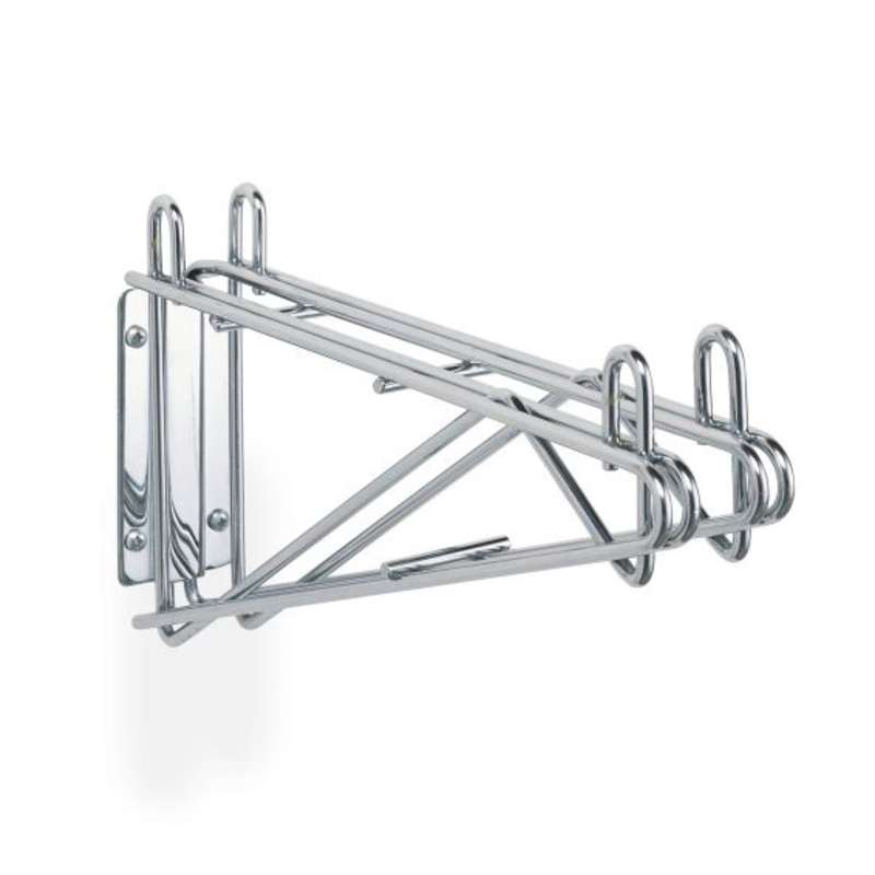 "Double Wall Mount Bracket for Adjoining Shelves, 18"" D"