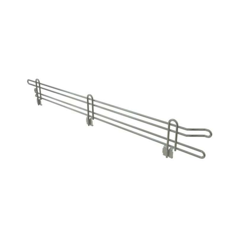 "Commercial Grade Chromate Finish Wire Shelf Ledge, 4""H x 48""L"