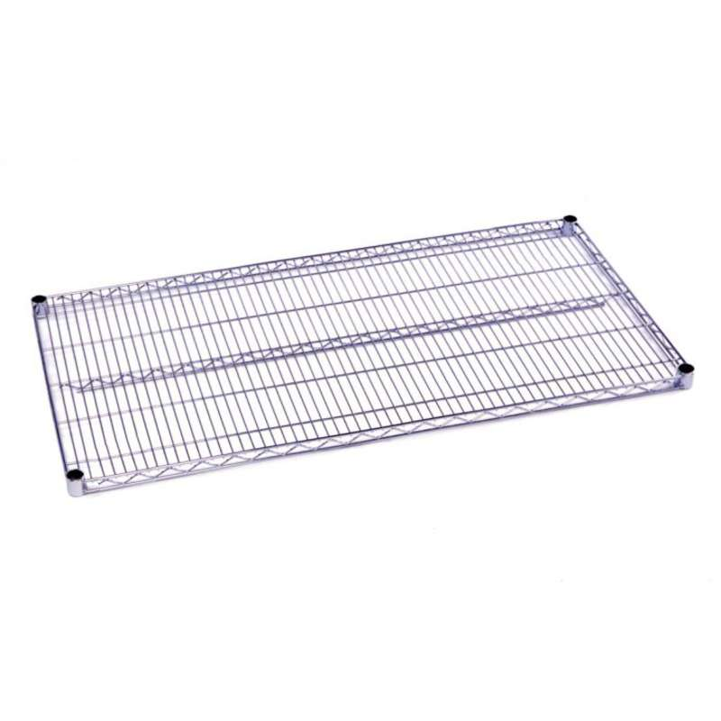 Commercial Grade Chromate Finish Wire Shelf, 21 x 48""