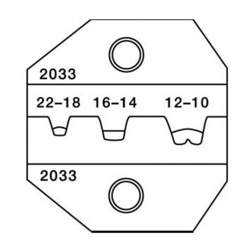 1300 and 8000 Series Die Set for 22-10 AWG Open Barrel, Narrow, Non-Insulated Te
