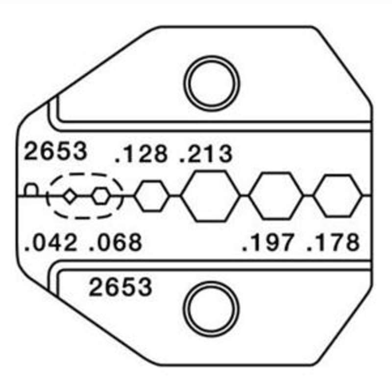1300 and 8000 Series Die Set for RG58, RG174, MINI-59, and BELDEN 1855A